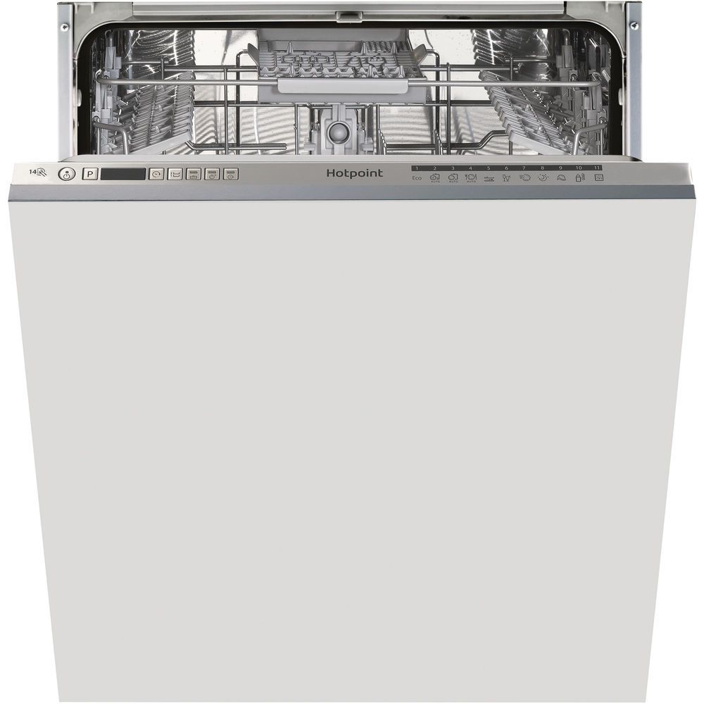 full size: silver color, Hotpoint integrated dishwasher