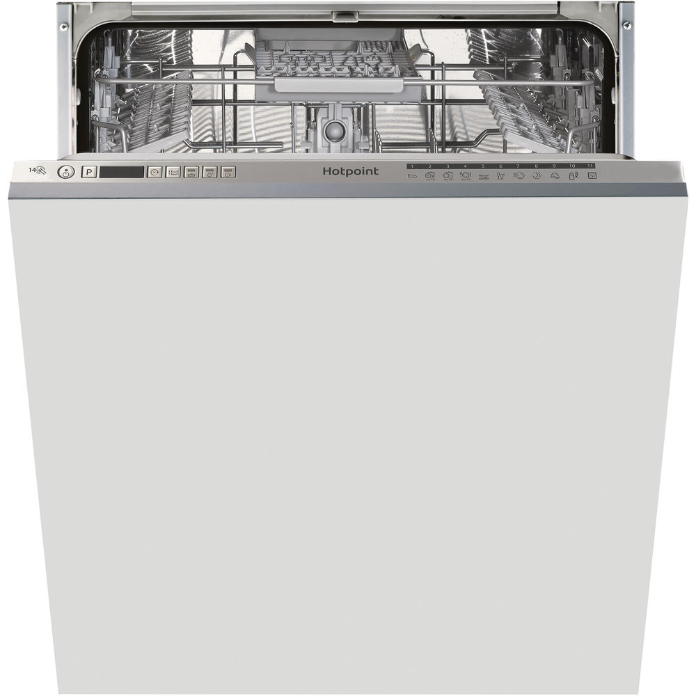 Hotpoint integrated dishwasher: full size, silver color