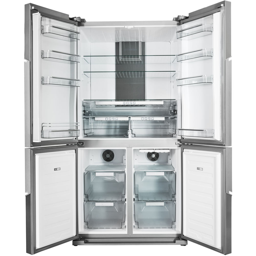 Hotpoint Quattro HPSN AT A+ IN Fridge Freezer - Stainless Steel