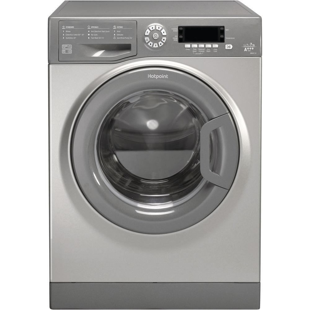 Hotpoint CarePlus Washing Machine WMAOD 743G - Graphite