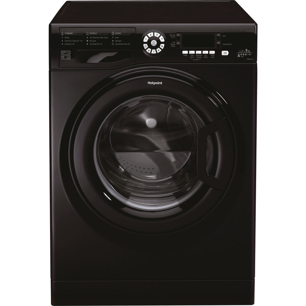 Hotpoint CarePlus Washing Machine WMAOD 844K - Black