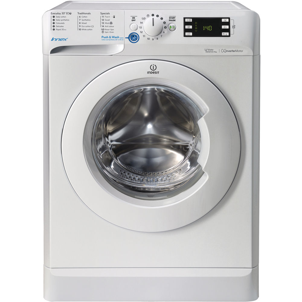 indesit innex bwe 81483x w uk washing machine in white bwe 81483x w uk. Black Bedroom Furniture Sets. Home Design Ideas