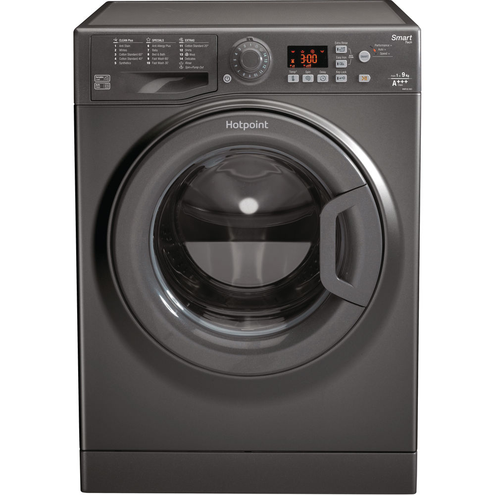 Hotpoint Smart WMFUG 963G Washing Machine - Graphite