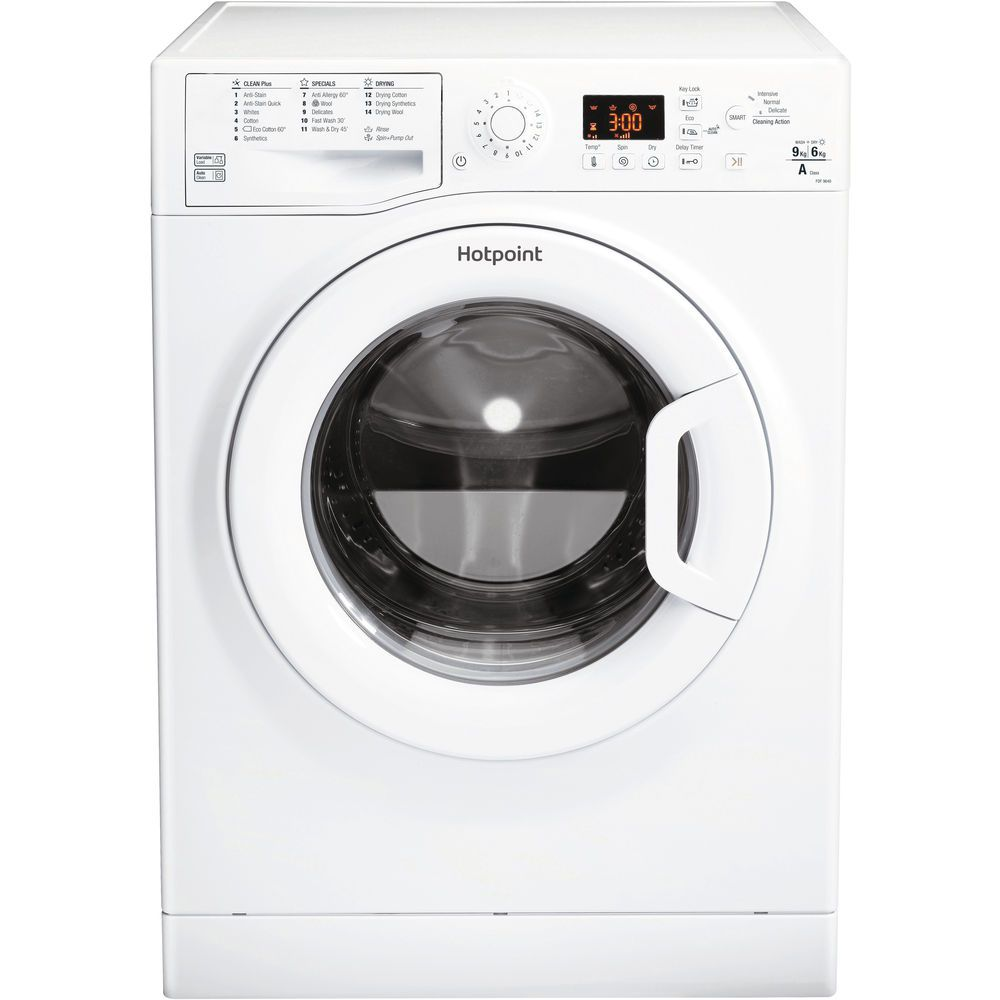Hotpoint Aquarius FDF 9640 P washer dryer - White