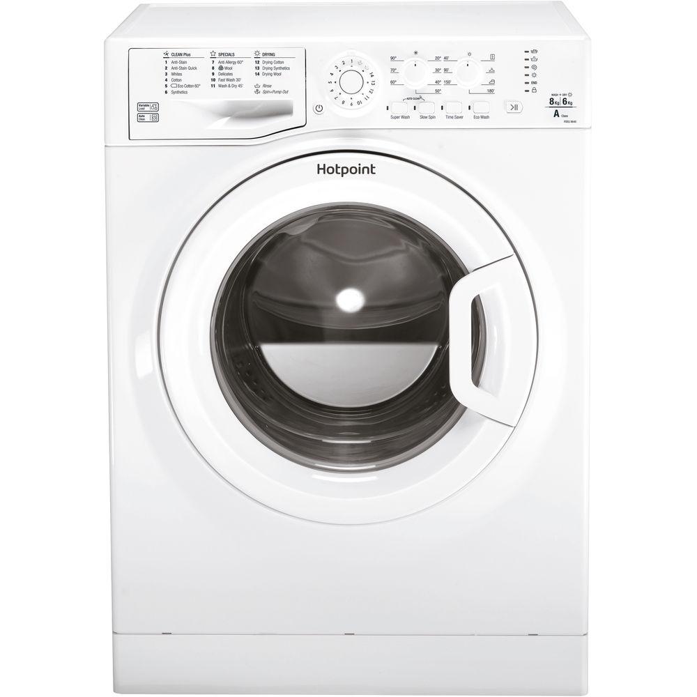Hotpoint Aquarius FDEU 8640 P Washer Dryer - White