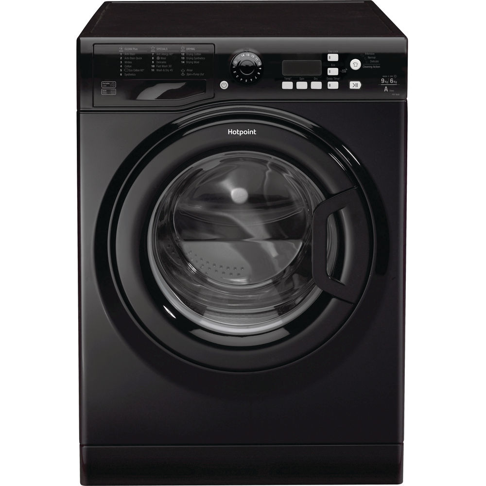 Hotpoint Aquarius FDF 9640 K washer dryer - Black