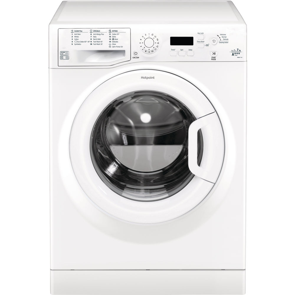 Hotpoint A+++ WMEUF 743P washing Machine - White
