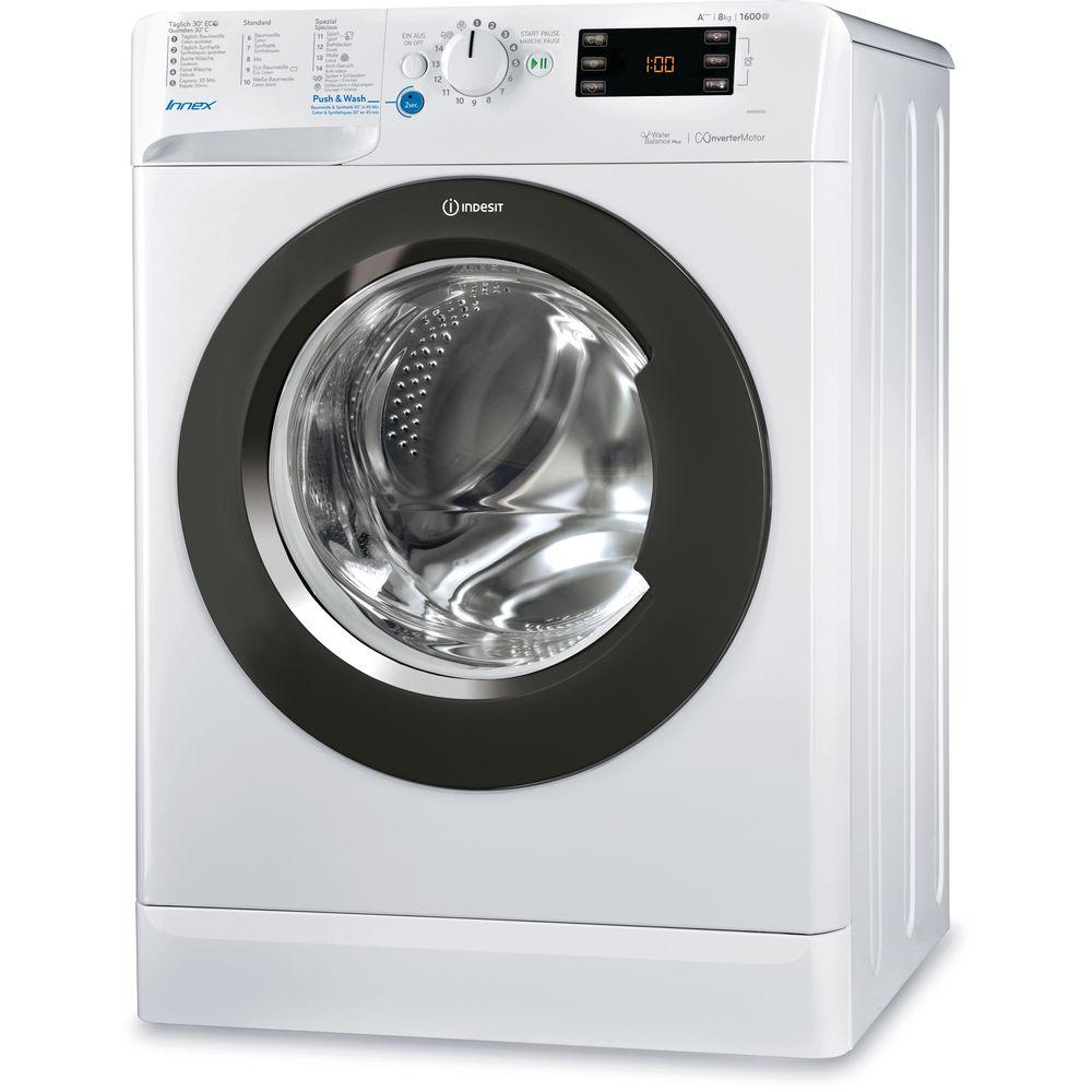 Indesit freistehende Frontlader Waschmaschine: 8kg BWE