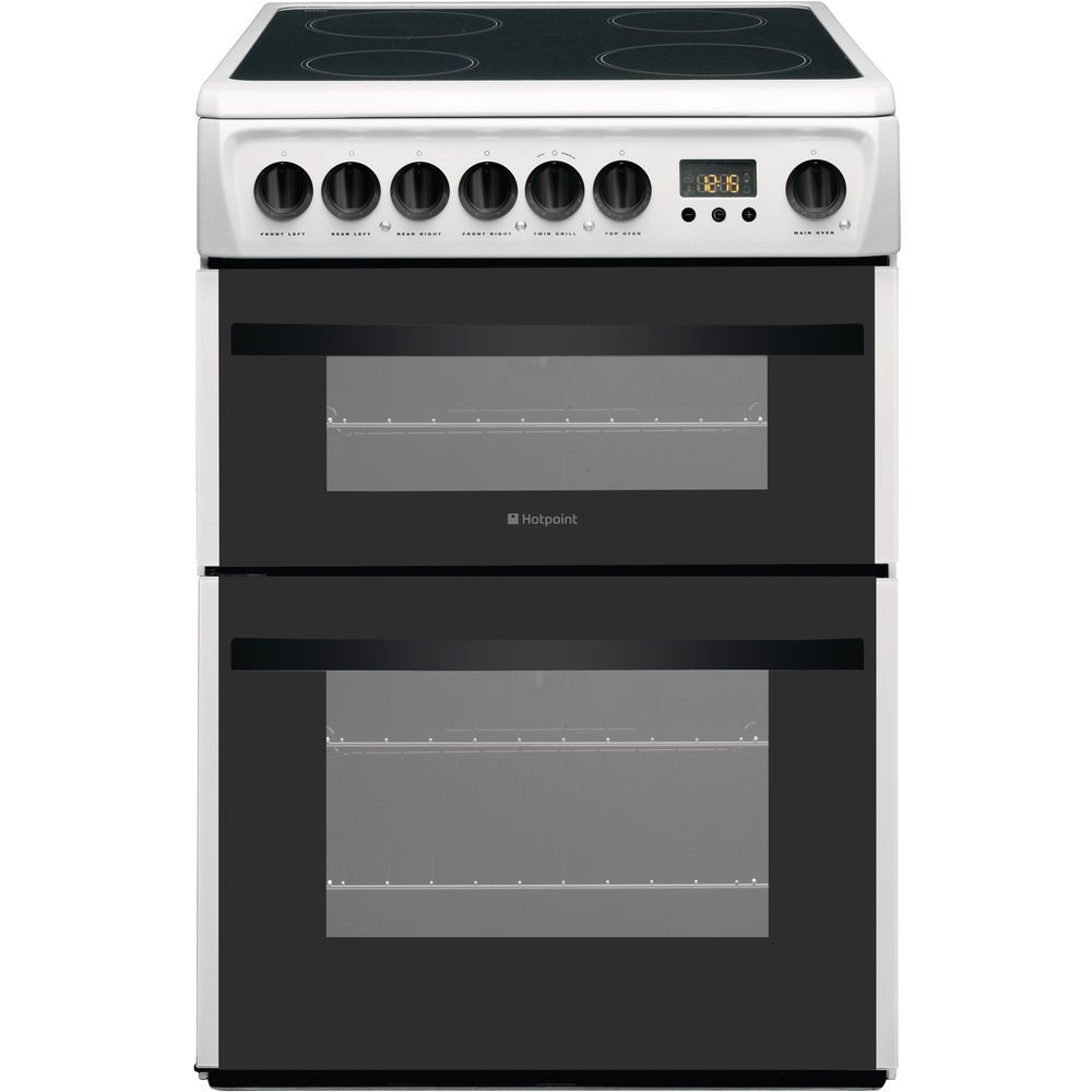 Hotpoint Smart DCN60P Double Cooker - White