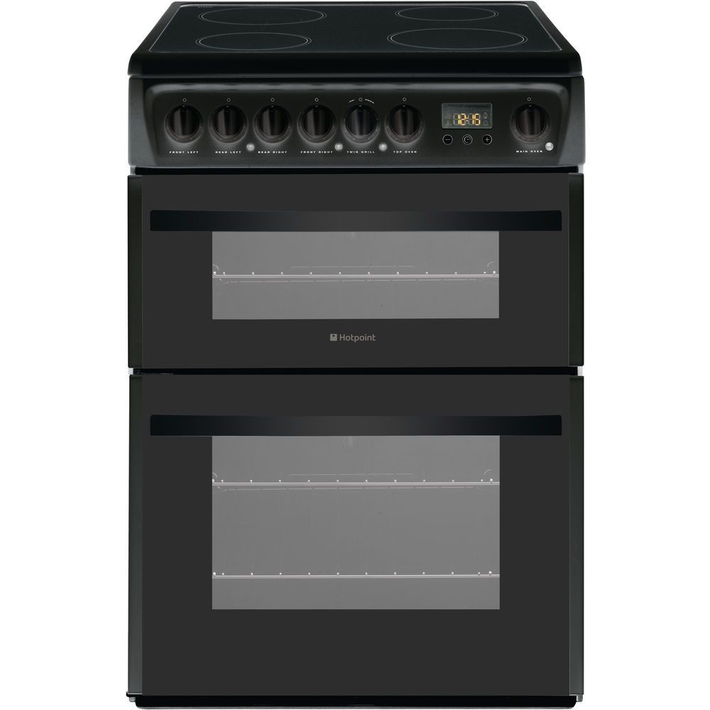 Hotpoint Smart DCN60K Double Cooker - Black