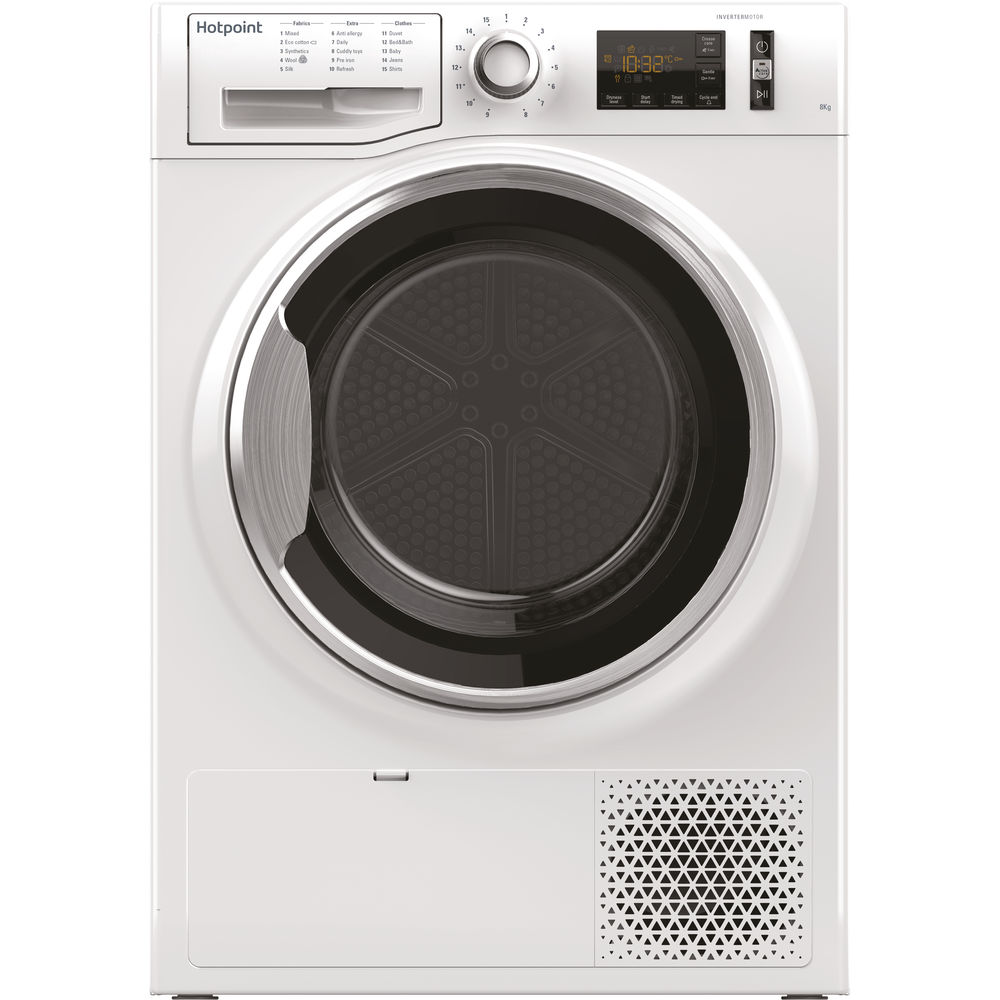 Hotpoint heat pump tumble dryer: freestanding, 8kg
