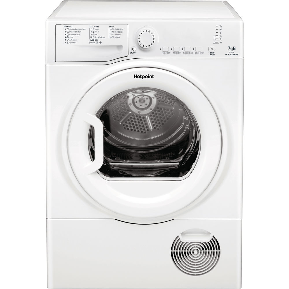 Hotpoint condenser tumble dryer: freestanding, 7kg