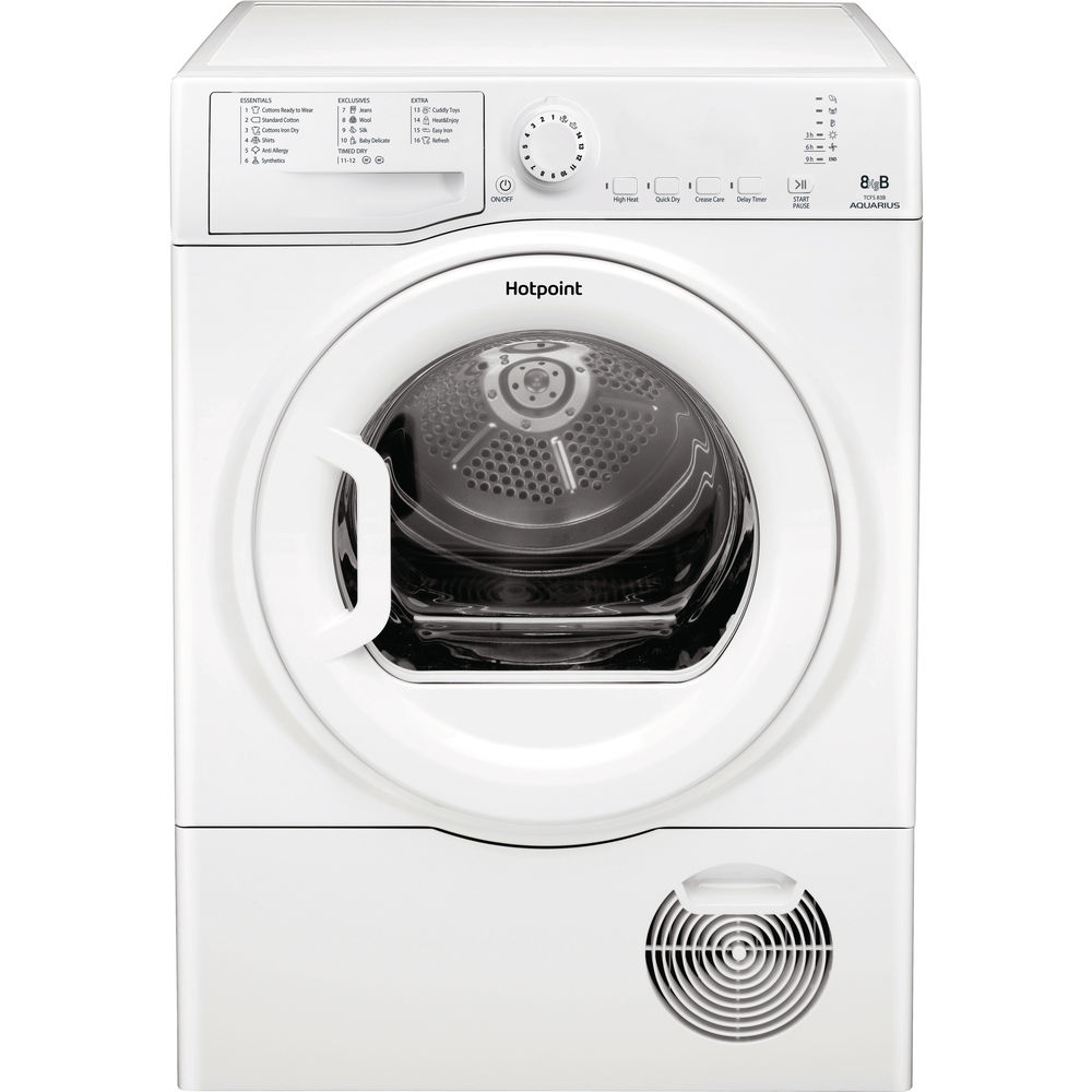 Hotpoint Aquarius TCFS 83B GP.9 Tumble Dryer - White