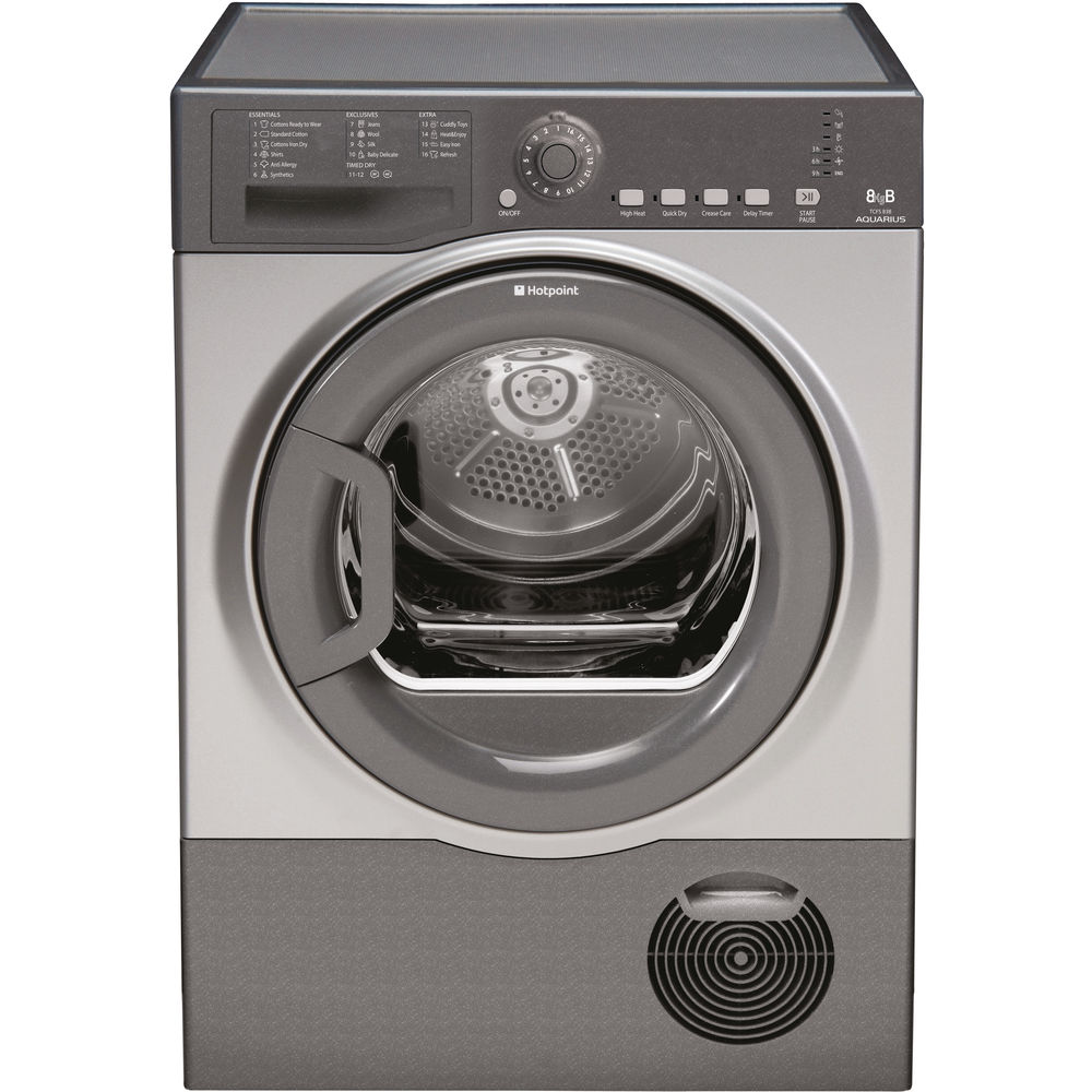 Hotpoint Aquarius TCFS 83B GG.9 Tumble Dryer - Graphite