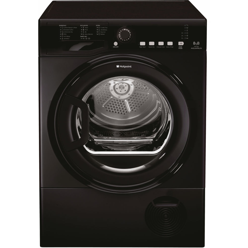 Hotpoint Aquarius TCFS 83B GK.9 Tumble Dryer - Black