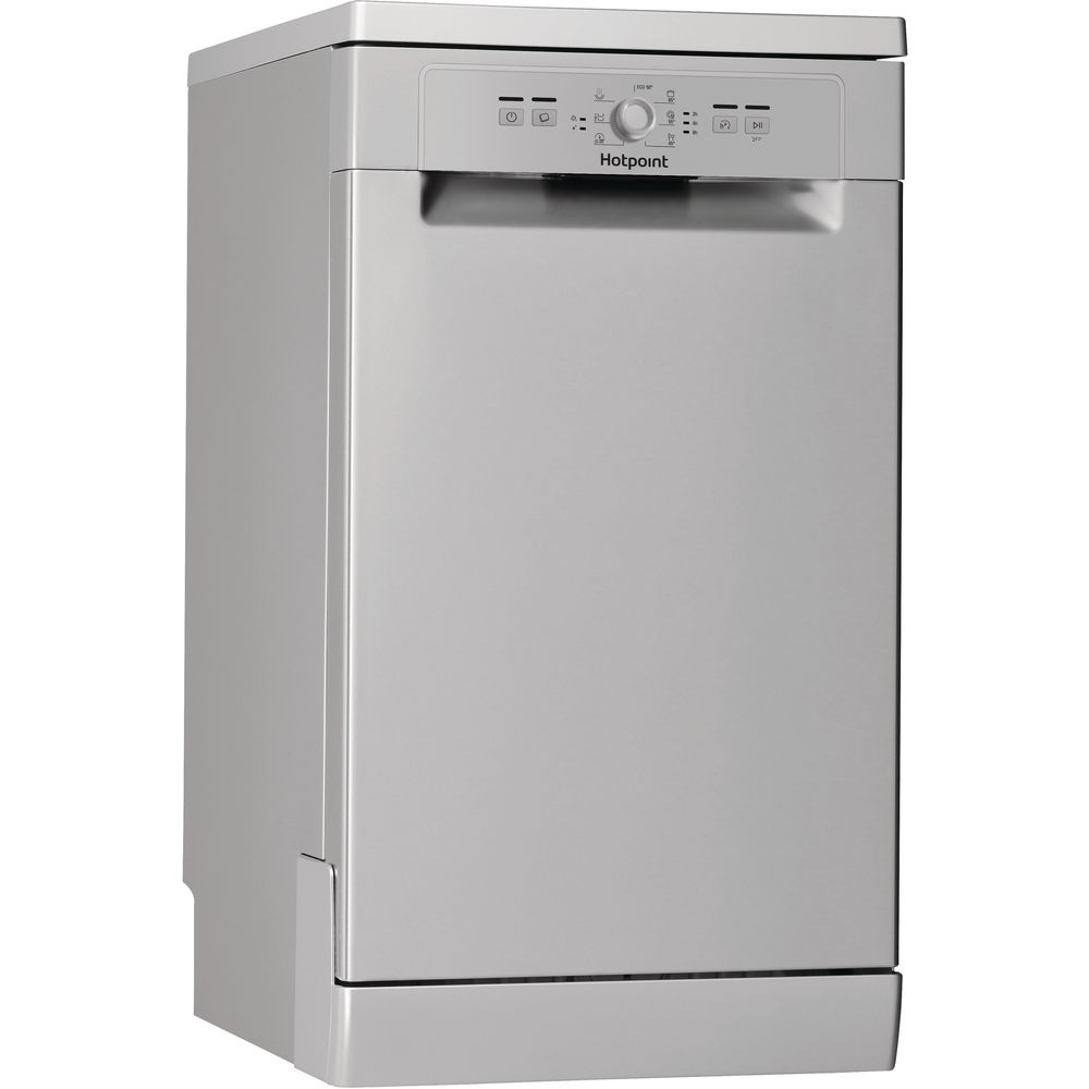 Hotpoint dishwasher: slimline, silver color