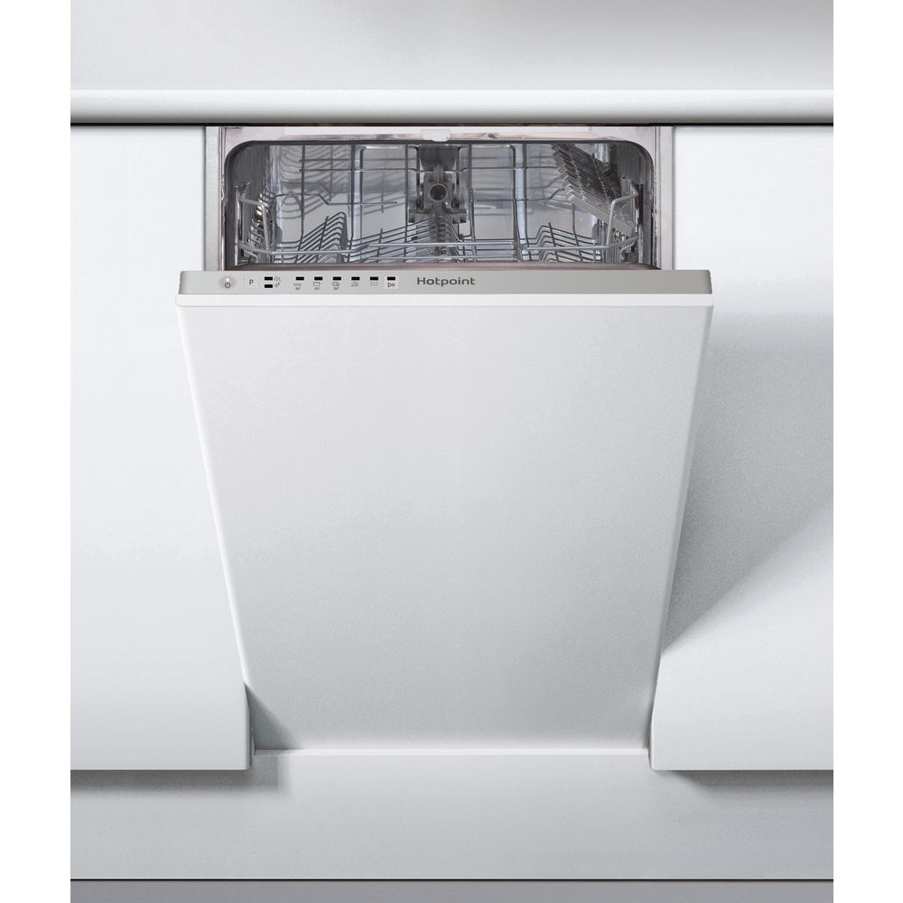 Hotpoint integrated dishwasher: slimline, white color