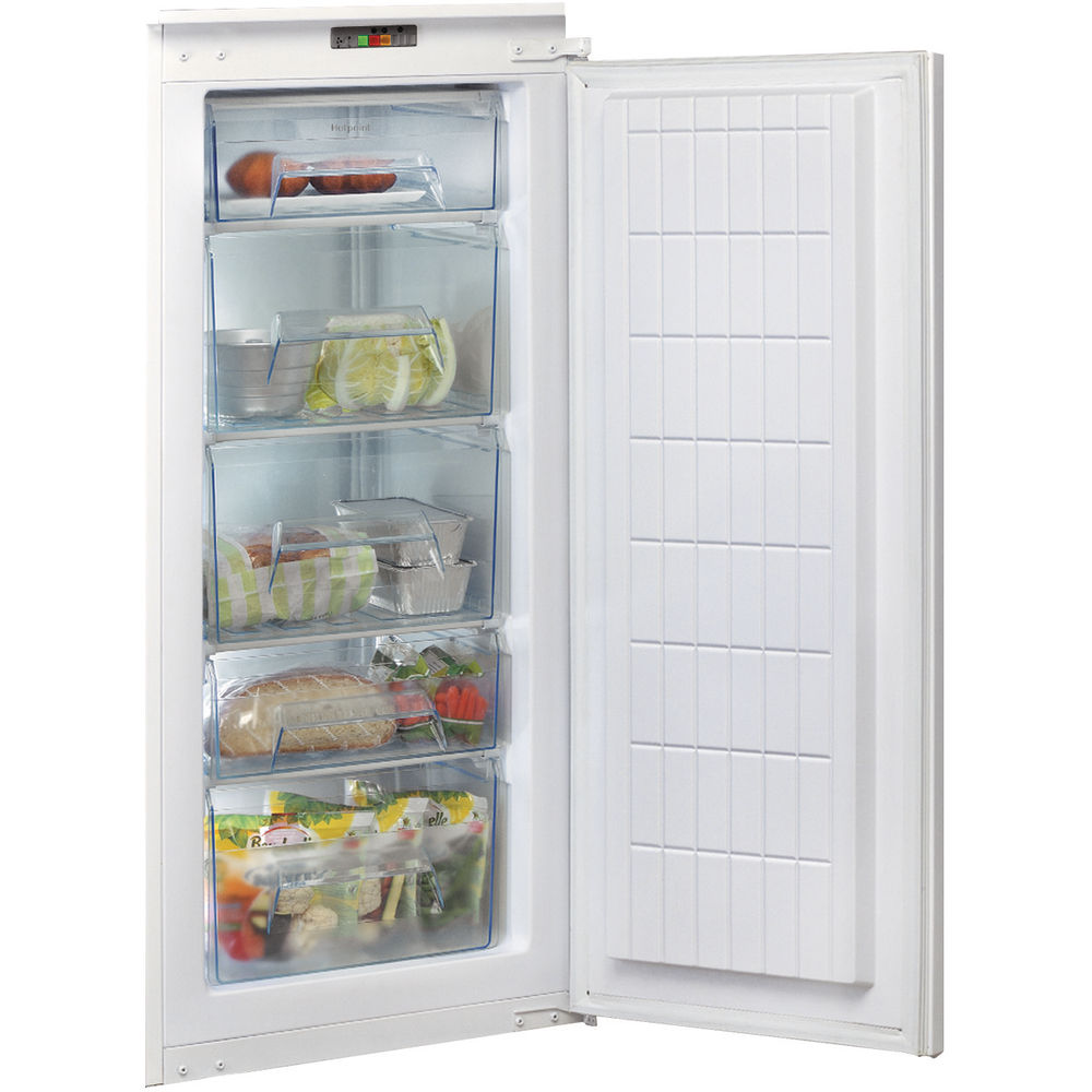 Hotpoint integrated upright freezer: white color