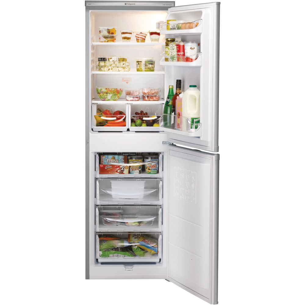 Hotpoint First Edition Hbd 5517 S Fridge Freezer Silver
