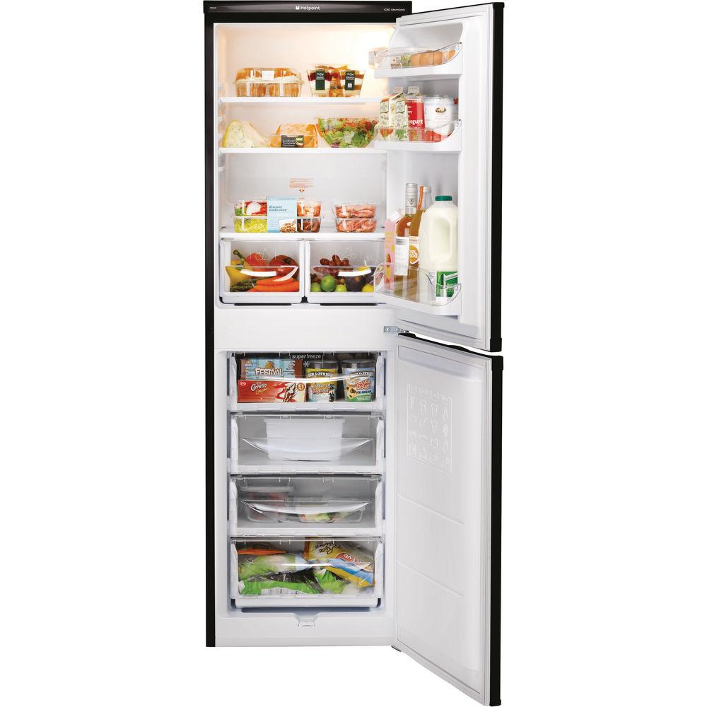 Hotpoint First Edition HBD 5517 B Fridge Freezer - Black