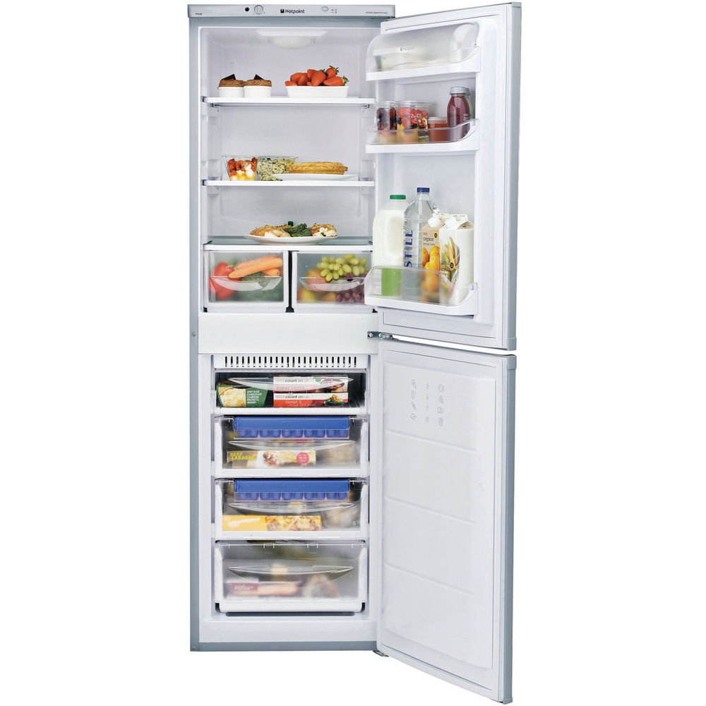Hotpoint Aquarius HBNF 5517 S Fridge Freezer - Silver