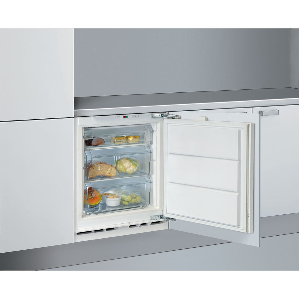 Integrated upright freezer