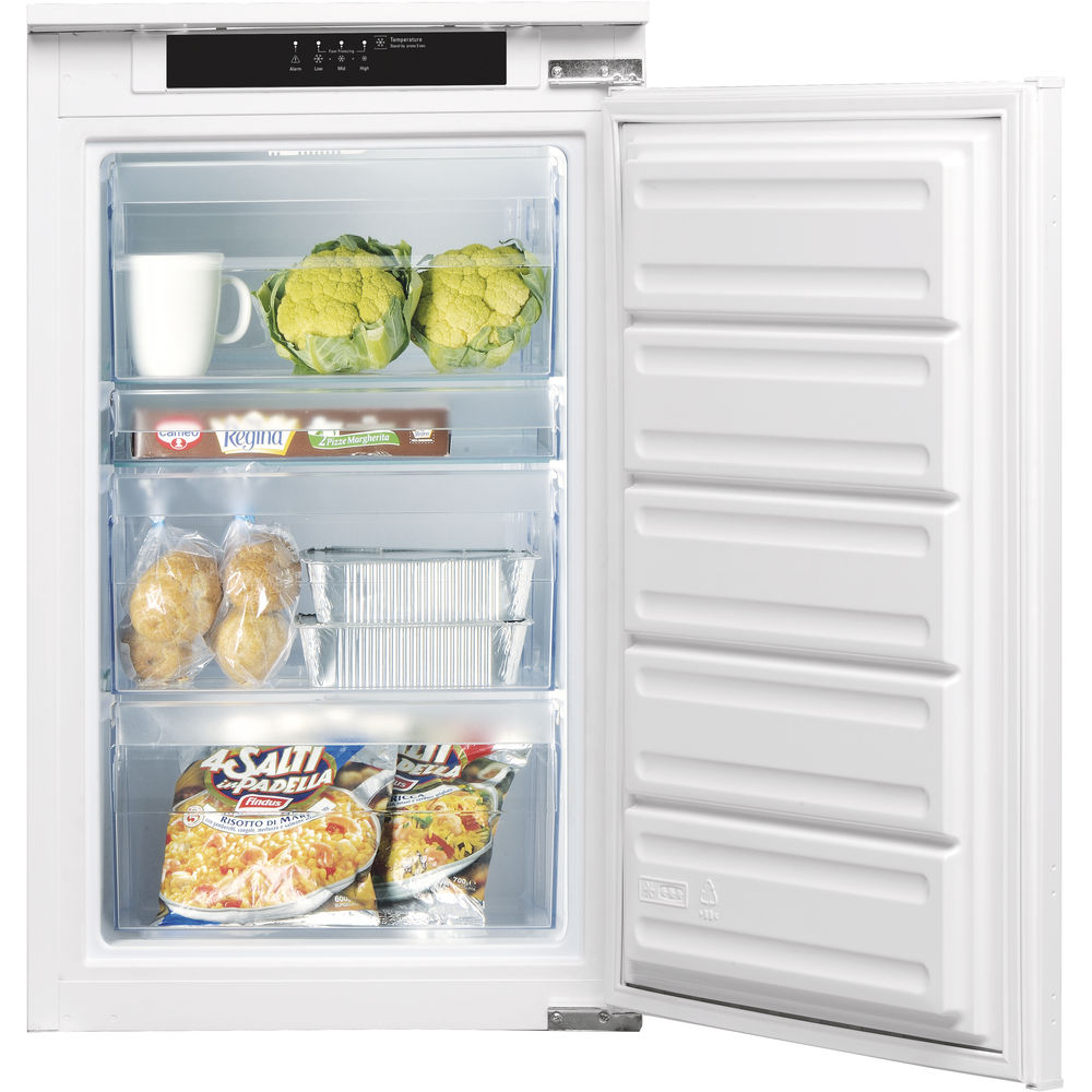 Integrated upright freezer: white colour