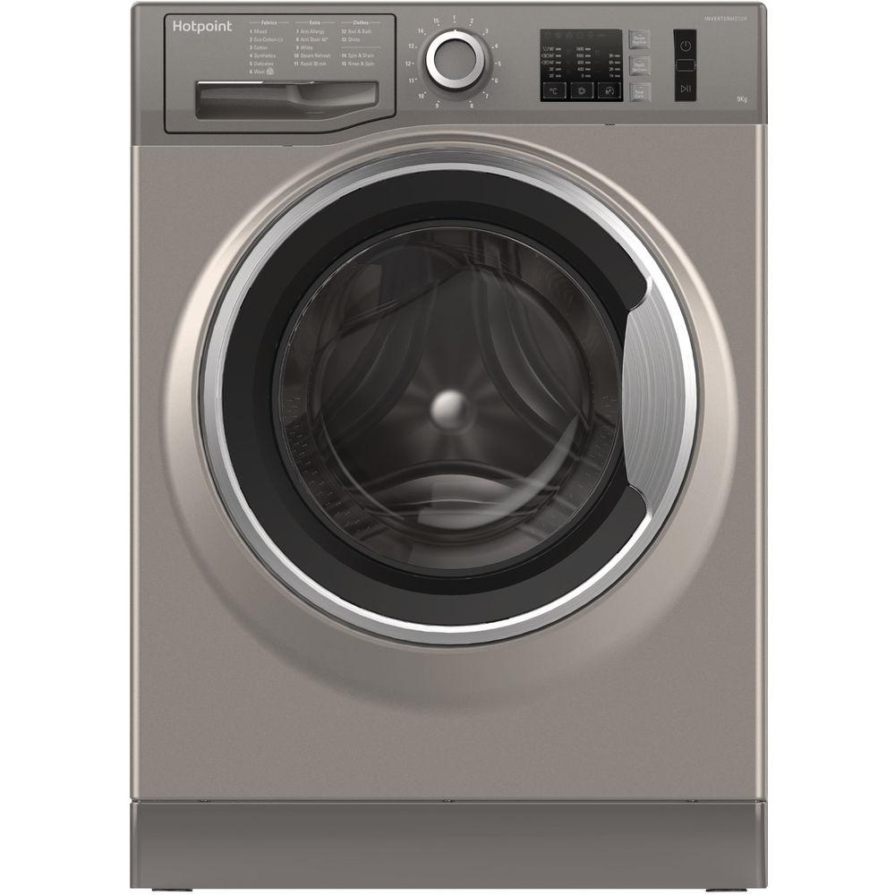 Hotpoint NM10 844 GS Washing Machine - Graphite
