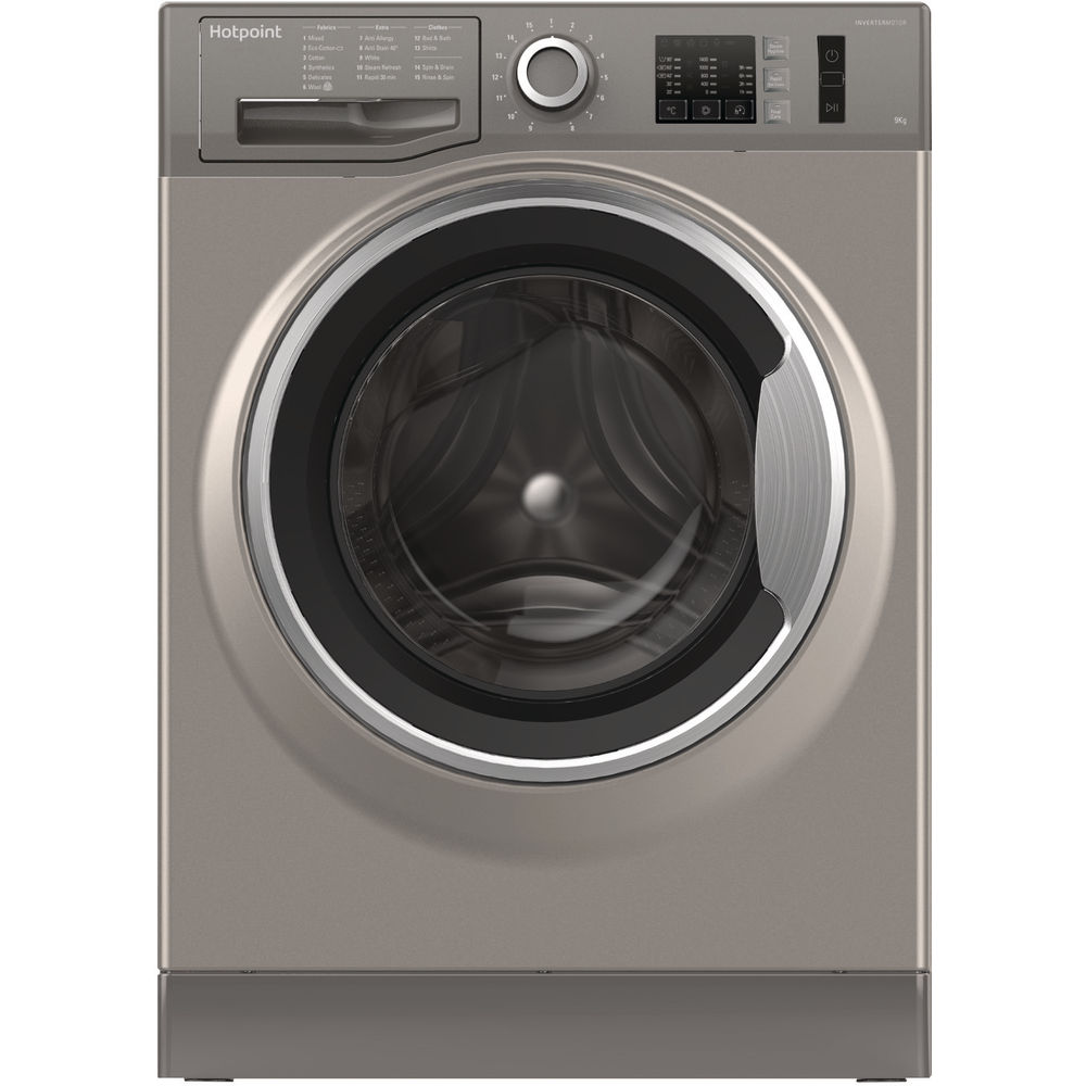 Hotpoint NM10 944 GS Washing Machine - Graphite