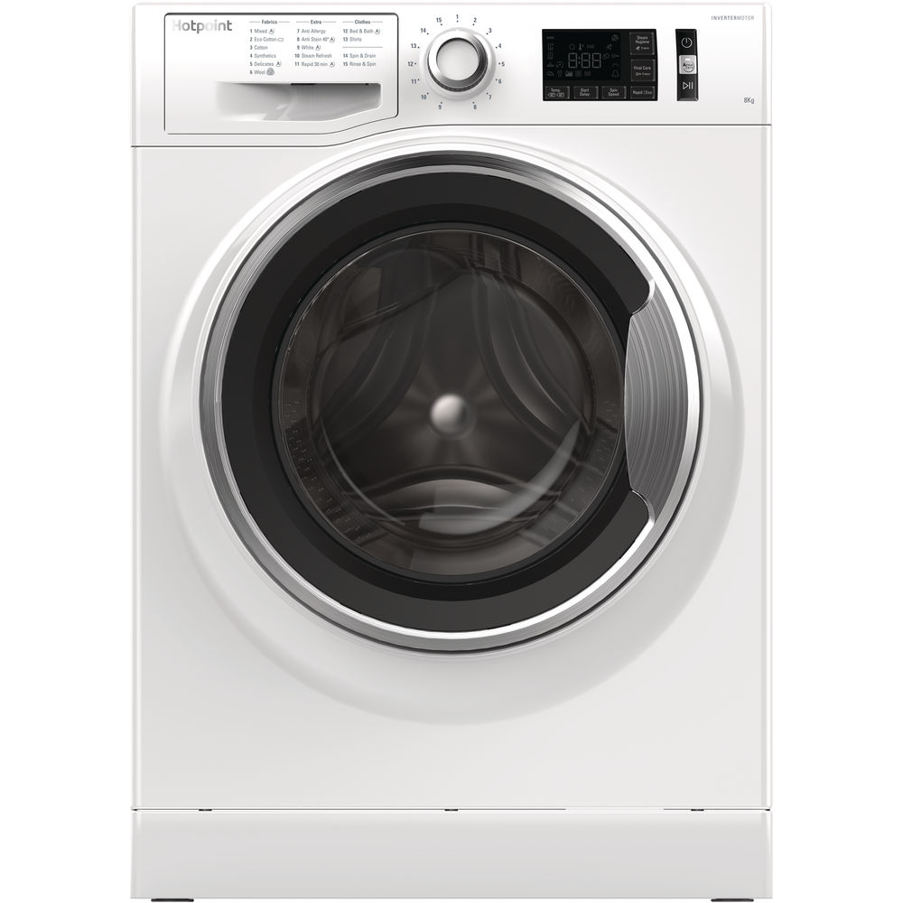 Hotpoint freestanding front loading washing machine: 8kg