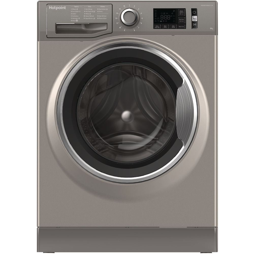 Hotpoint ActiveCare NM11 845 GC A Washing Machine - Graphite