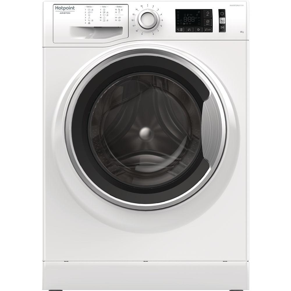 Mașina de spălat neincorporabilă cu încărcare frontală Hotpoint: 8kg