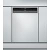 Beépíthető, külső vezérlőpaneles, 9 terítékes keskeny mosogatógép ADGU 862 IX