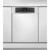 Beépíthető, külső vezérlőpaneles, 10 terítékes keskeny mosogatógép ADG 522 IX