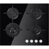 Fekete edzett üveg gázlap, 59 cm széles GOA 6423/NB