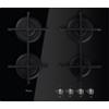 Fekete edzett üveg gázlap, 59 cm széles GOS 6413/NB