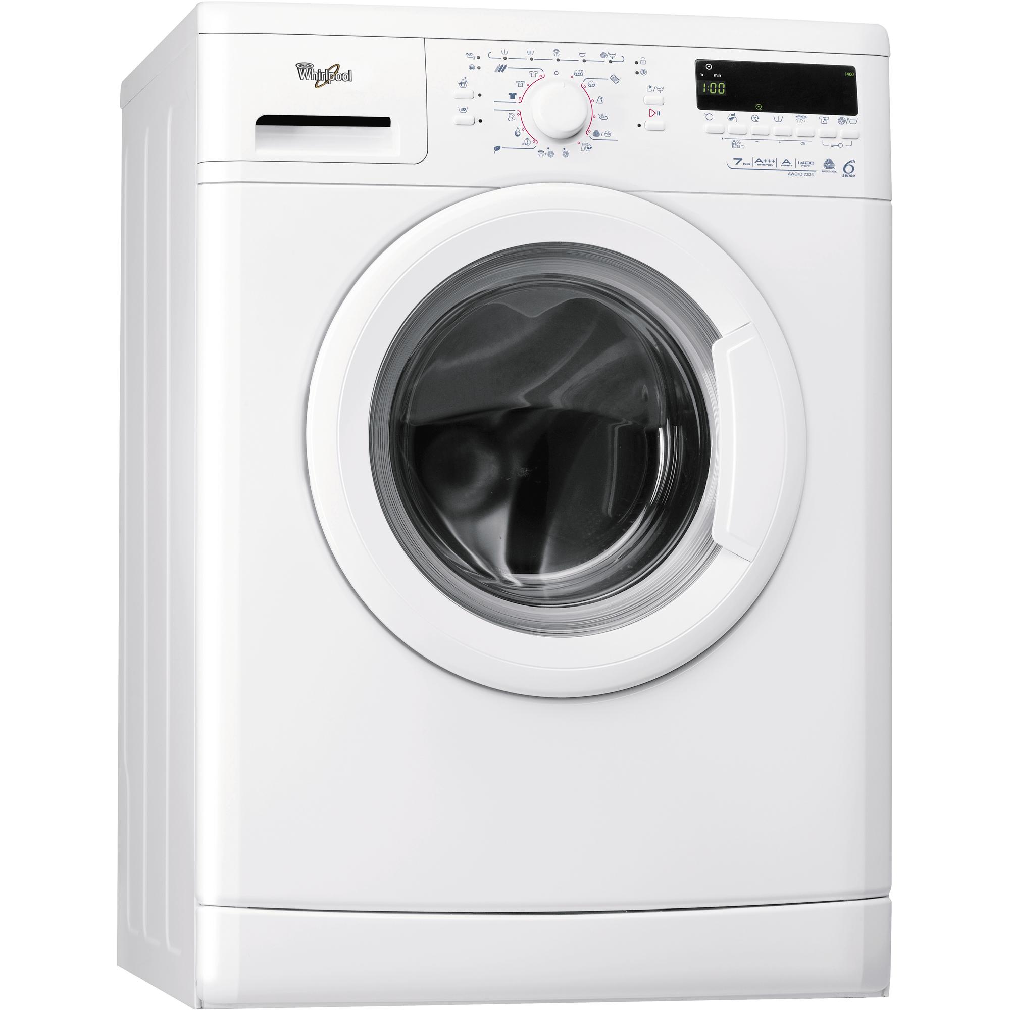 Waschmaschine (7 kg) AWOD 7224  Whirlpool Österreich -> Waschmaschine Höhe