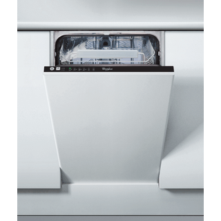 Whirlpool integrated dishwasher: slimline, black color - ADG 211