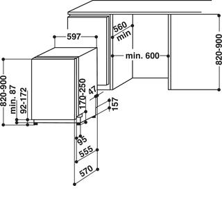 Vollintegrierbarer Geschirrspüler (60 cm) ADG 7433 FD