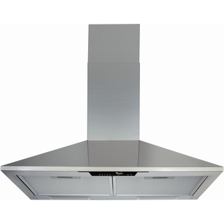 Whirlpool wall mounted cooker hood: chimney design - AKR 672/IX