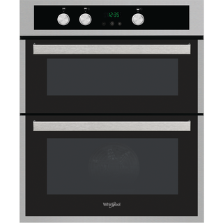 Whirlpool AKL 307 IX Built-Under Double Oven in Inox and Black