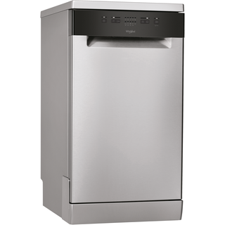 Whirlpool dishwasher: slimline, inox color - WSFE 2B19 X UK