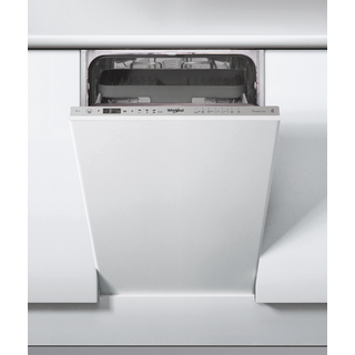 Whirlpool integrated dishwasher: slimline, inox color - WSIO 3T223 PCE X UK
