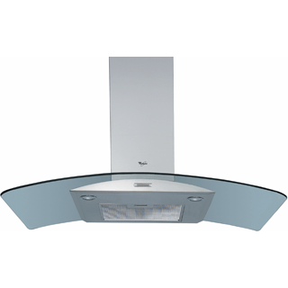 Whirlpool wall mounted cooker hood: chimney design - AKR 982 IX