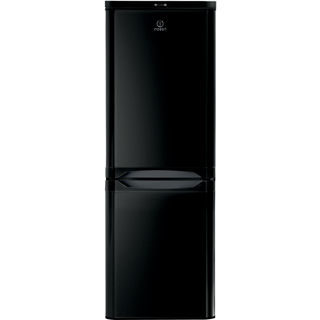 Indesit NCAA 55 K Fridge Freezer in Black