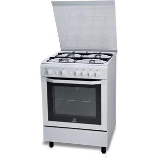 Indesit gas freestanding cooker: 60cm