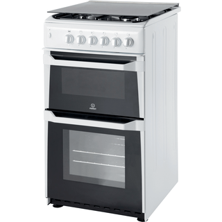 Gas freestanding double cooker: 50cm