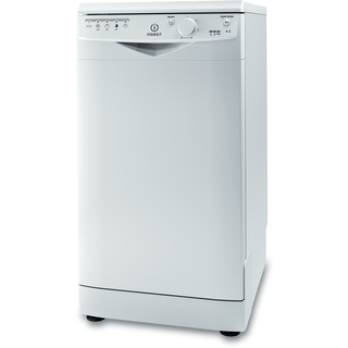 Lavavajillas Indesit: Delgado, color blanco