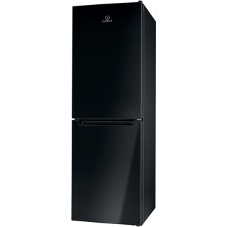Indesit LD70 N1 K Fridge Freezer in Black