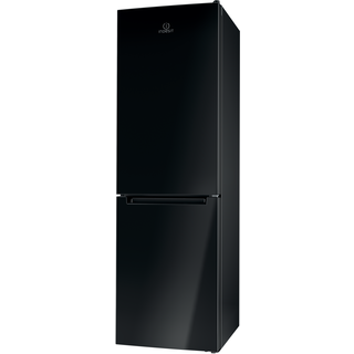 Indesit LD85 F1 K Fridge Freezer in Black